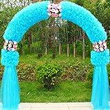 SUNNAIYUAN Arrampicata Il Giardino Botanico Archi, con Decorazione Floreale Artificiale Metallo Pergola for Wedding Arch Decoration (Color : A)