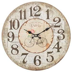 Decorazione shabby chic orologio da parete stile vintage - Relojes de pared clasicos ...