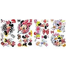 Pegatina de pared con diseño de Minnie adora comprar - Mickey & Friends - Minnie Loves to Shop Peel & Stick Wall Decals