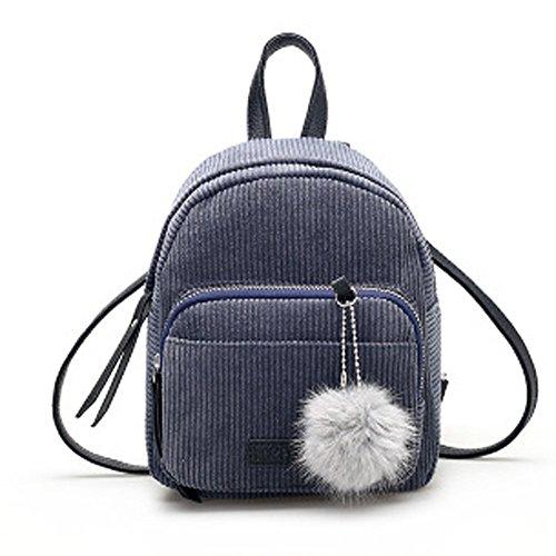 Tohole Cord Handtasche Damen Tasche Schultertasche Crossbody Bag Shopper Soft Rucksack All In One Multifunktions Süßer Mini Rucksack(grau,1PC)