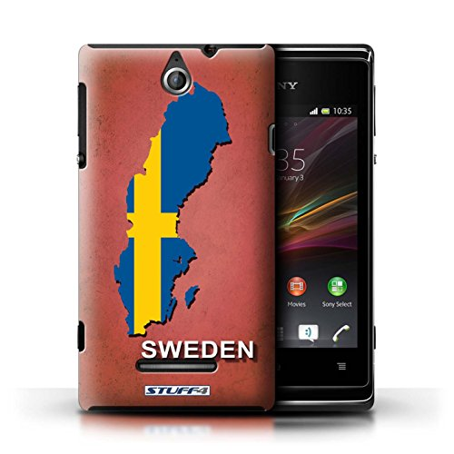 Kobalt® Imprimé Etui / Coque pour Sony Xperia E / Thaïlande/Thai conception / Série Drapeau Pays Suède/Suédois