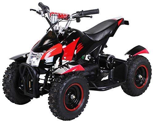 Actionbikes Motors Mini Kinder Elektro Quad ATV Cobra 800 Watt 36 V Pocket Quad - Original Saftey Touch - Kinder E Bike (Schwarz/Rot)