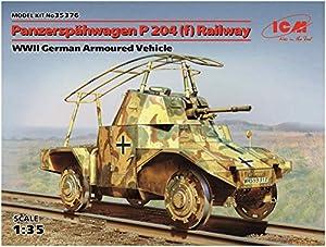 ICM 35376Maqueta de Tanque späh Carro P204(F) Railway WWII German Armoured Vehicle, Juego