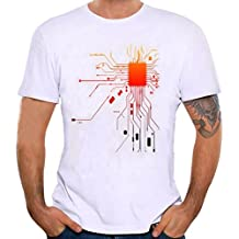 Elecenty Herren Blusentop Solide Poloshirt, Kurzarmshirt Pullover Bluse Tee T-Stücke Drucken Männer Sommerhemd Tops Blusen Sweatshirt Hemd Pulli
