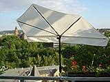 Neu SONNENSCHIRM - NATUR Balkonfächerschirm - STABIELO - EXKLUSIV Hollymat ® - Hollysun- AIDA - BEZUG HUSUM ZANGENBERG - Farbe WEISS/NATUR - WASCHBAR-ABNEHMBAR-AUSTAUSCHBAR -140 x 70 cm mit 360 ° schwenkbarer Universalgelenkhalterung STGVC 2030 SC + Gummikappen zur kratzfreien Befestigung für Geländer bis 35 mm Ø - INNOVATIONEN MADE in GERMANY - HOLLY PRODUKTE STABIELO ® - !!!!! Befestigungen von Ø 25 - 55-60 mm MULTIHALTER STGVC 5530 gegen TAUSCHPREIS von 10 EUR -ASIN: B0089DPR4O -