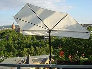 neu sonnenschirm natur balkonf cherschirm stabielo exklusiv hollymat