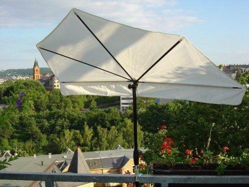 Neu SONNENSCHIRM - NATUR Balkonfächerschirm - STABIELO - EXKLUSIV Hollymat  - Hollysun- AIDA -...