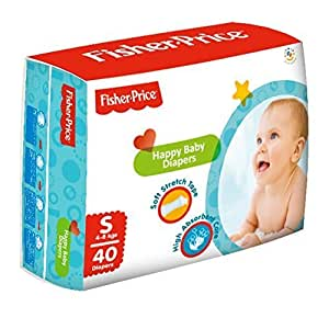 Fisher Price Happy Baby Small Diapers (40 Pieces)