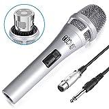 Tonor Dynamischer Mikrofon mit 16,5 Ft. Kabel für DVD/Fernsehen/KTV Audio/Reverberator/Mixer/Tourbus (Silber)