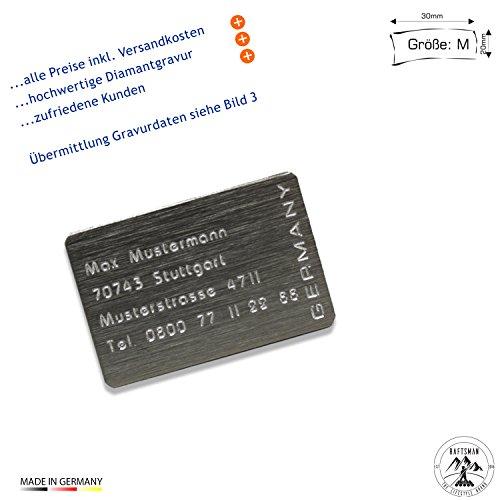 Drohnenkennzeichen / Drohnen Kennzeichnung / Kennzeichen / Fluggerätekennzeichnung / Modellflugschild / Drohnenschild inkl. individueller CNC Gravur und doppelseitigem Klebeband (Al-3020-Edel-Look)