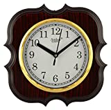 CBS Plastic CBS Analog Wall Clock (Brown...