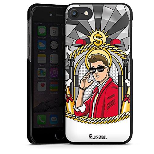 Apple iPhone X Silikon Hülle Case Schutzhülle Justin Bieber Dollar Champagner Hard Case schwarz