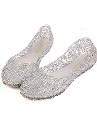 af815b59 Sandalias de Cristal para Mujer Sandalias Planas Cómodo Wild  Black/Gold/Pink/Silver
