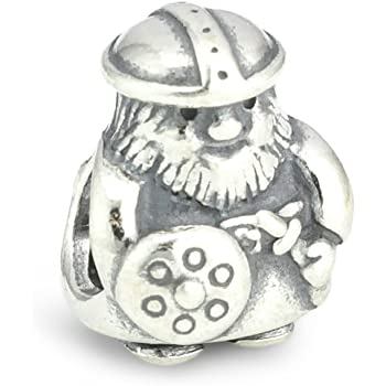 78db3eb2f Queenberry Sterling Silver Viking Warrior European Style Bead Charm ...