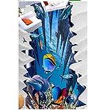 Pbldb Unterwasserwelt Marine Moderne Benutzerdefinierte 3D Boden Mural Unterwasserwelt 3D Boden Malerei Tapeten Selbst Boden Mural 3D Wallpaper-280X200Cm