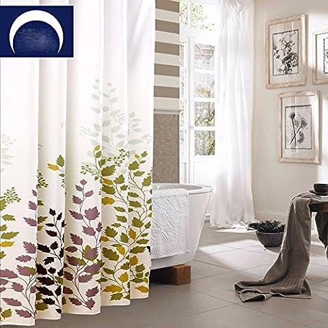 Imperméable en polyester épais résistant à la moisissure wc salle de bains rideau de douche tissu des rideaux ,120x200 High