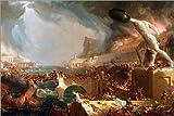 Poster 90 x 60 cm: Der Fall von Rom (Zerstörung) von