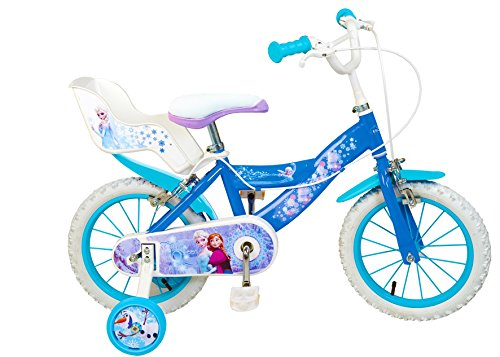 """Disney - Bicicletta Per Bambina, 14"""", Motivo: Frozen, 4-7 Anni"""