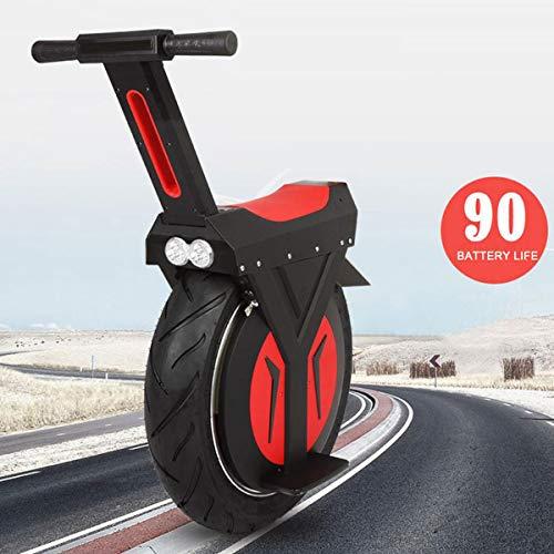 Elektro-Einrad 17-Zoll-Smart Balance Car Adult Elektroroller Mit LED-Leuchten Und Kick Stand 60V / 500W Unisex-Sicherheit Tragende 120KG Black
