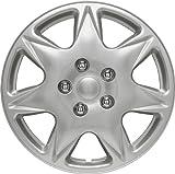 Autostyle Satz Radzierblenden California 17-Zoll Silber