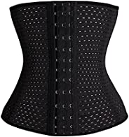 Women Stomach Belly Corset Waist Trainer Shaper Hollow out Ventilate Elastic Gather Stomach Belly Corset Size