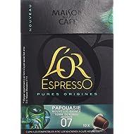 L'OR ESPRESSO Pure Origine Papouasie Nouvelle-Guinée 10 capsules compatibles avec les machines à café Nespresso - Lot de 4 (40 capsules)