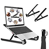 Laptop Ständer, Multi-Winkel verstellbar, Höhe einstellbar, Tate Guard Klappbar Stand, für 10 bis 17.3 Zoll Tablet/MacBook /Tab Laptop PC, 2017 Microsoft Surface Pro, Schwarz