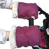 Kinderwagen Handschuhe, Fushop wasserdichte Lenkerhandschuhe für Eltern und Betreuer, Anti-Freezing Kinderwagen Hand Muffs, winddichte Abdeckung warme Muff , Handwärmer Handschuhe (Lila)