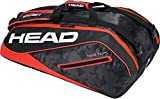 Head Tour Team 9R Supercombi Portaracchette, Unisex, Tour Team 9R Supercombi, Black/Red