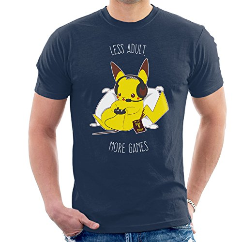 Pokemon Pikachu Keep Gaming Adults Men's T-Shirt