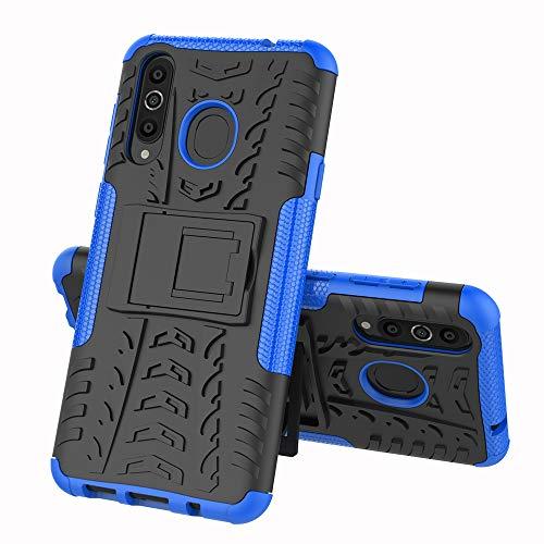 TenYll Samsung Galaxy A8s Hülle, 2in1 Silikon Rückseite Schutzhülle,Heavy Duty Tough Rugged Shock Proof Case,Mit Halterung Doppeltem Schutz Cover für Samsung Galaxy A8s -Blau