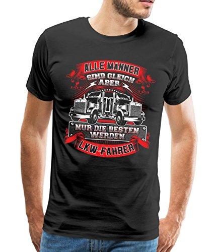 Spreadshirt Trucker Nur Die Besten Werden LKW Fahrer Männer T-Shirt, XL, Schwarz (Tshirt T-shirt Trucker)