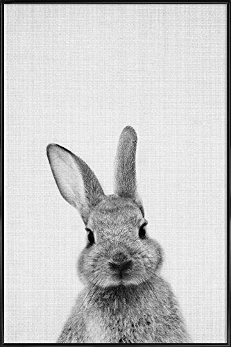 """JUNIQE® Bild mit Rahmen 20x30cm Schwarz & Weiß Kinderzimmer & Kunst für Kinder - Design """"Print 48"""" (Format: Hoch) - Wandbilder, Gerahmte Bilder & Gerahmte Poster von unabhängigen Künstlern - Tierbilder - entworfen von Lila x Lola"""
