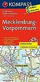 Mecklenburg-Vorpommern: Großraum-Radtourenkarte 1:125000, GPX-Daten zum Download: 2-delige fietskaart 1:125 000 (KOMPASS-Großraum-Radtourenkarte, Band 3702)