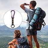 SueSupply Outdoor Schlüsselanhänger Karabiner und Schlüsselring für Wandern Outdoor und als Gadget zum Überleben