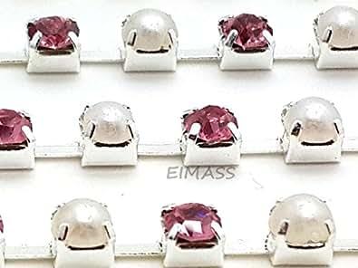 Factory Direct Wholesale EIMASS® bijou chaîne en strass cousu ou collé sur diamant - multicolore - Multicoloured,