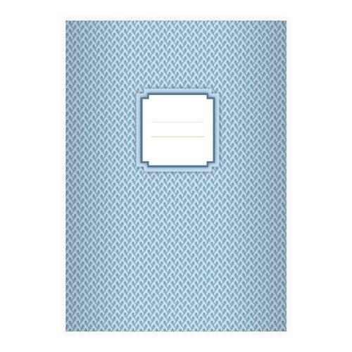 (16 Retro DIN A5 Schulhefte, Schreibhefte mit Algen Muster in hellblau Lineatur 6 (blanko Heft))