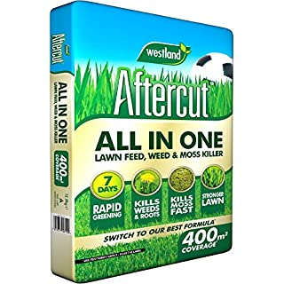 Aftercut All in One Lawn Feed, Weed and Moss Killer, 400 m2, 12.8 kg