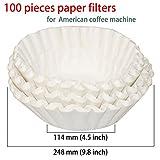 GENERIC 100 pcs/lot coffee paper filter ...