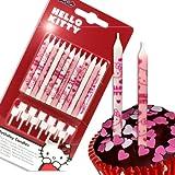 Procos Hello Kitty Rund Pink, Weiß 12Stück (S) Duftkerze, 12Stück (S)