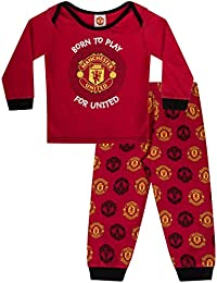 355f18e41 Manchester United FC Official Football Gift Boys Kids Baby Pyjamas