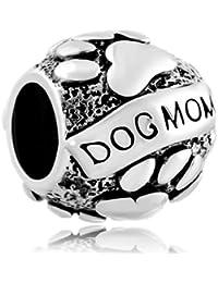 Pugster Damen-Charm-Anhänger Dog Mom