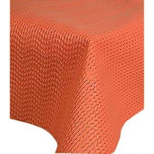 friedola 130 x 180cm oval Gartentischdecke Milano UV-beständig Farbe: Orange/Lachs