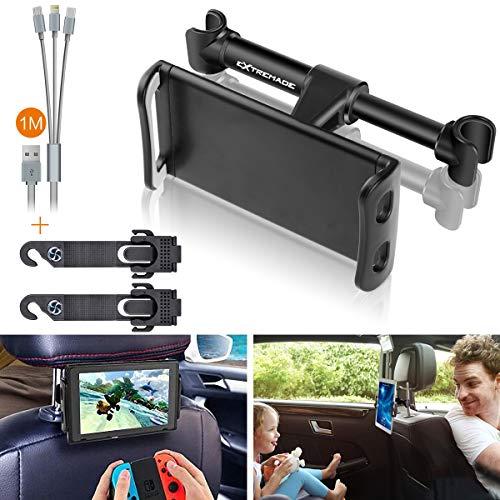 """Extremade universal Tablet Auto Halterung Kopfstütze Halterung Handyhalterung verstellbar Tablet Mount 360° drehbar Ständer kfz Halter für Pad Apple iPad iPhone Handy Smartphone iPhone mit 4 \""""-11\"""""""