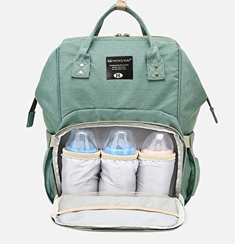 starke Mumie Tasche Multifunktionshebel Oxford Tuch Rucksack Windel Wasserdicht 25 * 16 * 40 cm, Hellgrün (Mumie Make Up)