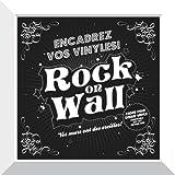 Rock on Wall Cadre Blanc pour Disque Vinyle