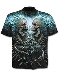 Spiral Direct für Männer flammenden Wirbelsäule Schwarz T-Shirt Größe M-XXL