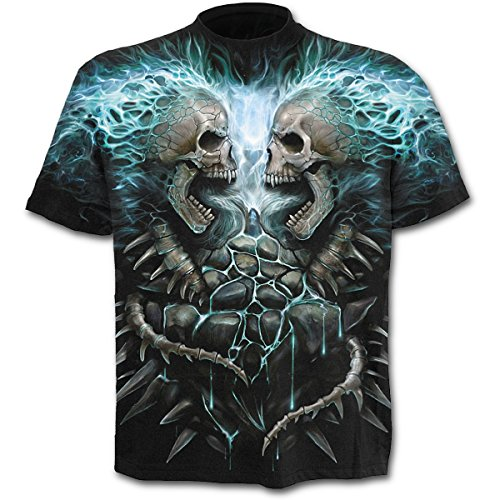 Spiral - Camiseta - Manga Corta - para Hombre Negro Negro XX-Large
