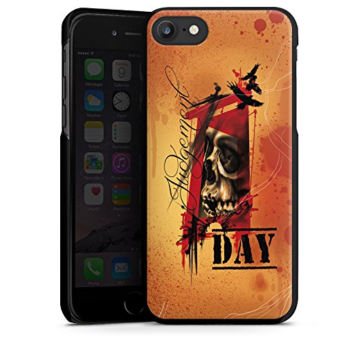 Apple iPhone X Silikon Hülle Case Schutzhülle Tattoo Orange Rock n Roll Hard Case schwarz