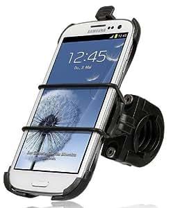 Wicked Chili Fahrrad / Roller / Lenker-Halterung mit Sicherungsband für Samsung Galaxy S3 (passgenau, QuickFix, Made in Germany)